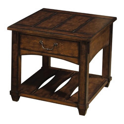 Hammary - Tacoma End Table - One drawer. One storage shelf. Limited warranty. Assembly required. 24 in. W x 24 in. D x 28 in. H