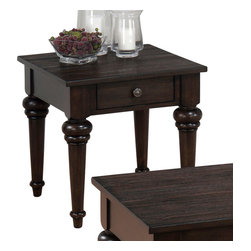 Jofran - Jofran 256-3 Savannah End Table with 1-Drawer in Oak - Show your good taste with the Savannah oak collection. Featuring a cocktail table with a pull-thru drawer and beautifully turned legs on all pieces. This handsome set will be the smartest choice you ever make.