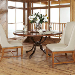 "American Drew 204-702 New River 60"" Round Table Top W/Lazy Susan - American Drew 204-702 New River 60"" Round Table Top W/Lazy Susan Sku: 204-702Manufacturer: American DrewCollection: New River Series Finish: Domestic-Alder Solids & Rustic Alder Veneers Import-Poplar Solids & Rustic Alder Veneers Series Code: 204Product Code: 702Parent Product: 702R Weight: 1Cubes: 19.2C Width: 64C Depth: 64.75C Height: 8Product Width: 60Product Depth: 60Product Height: 2.75"