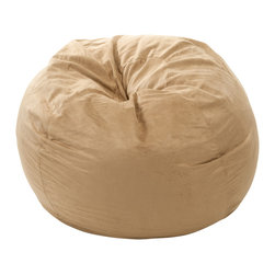Great Deal Furniture - Sammy 3 Ft Faux Suede Microfiber Fabric Bean Bag, Camel Tan - The Sammy Bean Bag provides you with a comfortable seat for any room. Adult sized at 3 feet, the puncture-proof cover is durable for anyone. The faux suede microfiber provides a comfortable experience with a combination of Eco-friendly recycled foam and poly bean filled interior.