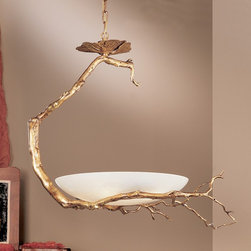 Recent products and services - Like a work of art, the incredibly natural bronze branches cradle the alabaster stone bowl making this inspiring sculpture a very unique way to light any setting. Provided by Lighting Innovation