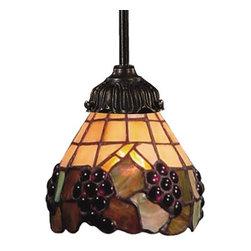 Mini-Pendant Light with Multi-Colored Glass -