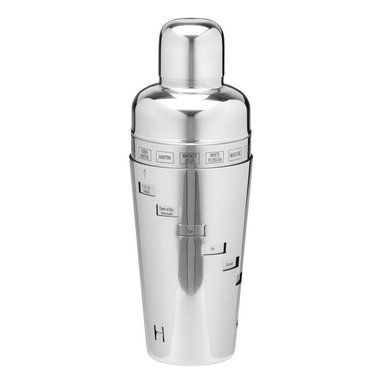 Kraftware - Stainless Steel Cocktail Shaker - Made from polished stainless steel. 6 in. W x 6 in. D x 12 in. H (1 lbs.)
