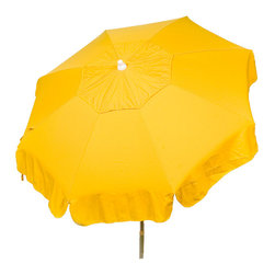 """DestinationGear - Italian 6 ft Umbrella Acrylic Solid Purple - Patio Pole, Yellow, 72"""" X 72"""" X 91, - Taking in the sun on the Amalfi coast is to some a dream come true.  In the case of the DestinationGear Italian Bistro style umbrellas, you'll feel like you are in Italy when you open up this 6 foot diameter shade provider.  Stylish, high-quality and designed for the patio, beach or camping outing."""