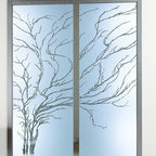 Albero Frameless Pocket Doors - Anything that does double-duty appeals to the multi-tasker in me, so these sliding doors are right up my alley. They're room dividers and works of art all in one!