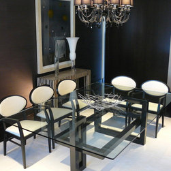 IOS dining table - Lacquered iron table. Size and colors on demand.