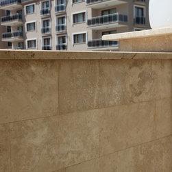 12x24 Honed & Filled Walnut Travertine Tiles -