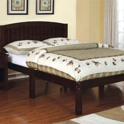 Furniture of America - Furniture of America Joan Wesley Contemporary Full Size Bed - The Joan Wesley contemporary full size bed is perfect for teens to young adults. This bed has clean contemporary lines across the board and is constructed with sturdy wood foundation,along with great color choices of dark walnut and white finish.