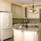 Allegra glazed latte and richmond blackened clove maple for Birch kitchen cabinets pros and cons