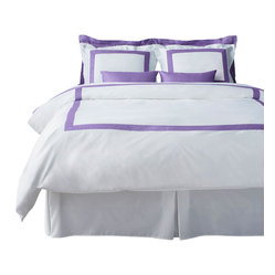 LaCozi Lavender & White Duvet Cover Set