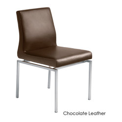 Aldo Dining Chair, Set of 2, Chocolate Leather
