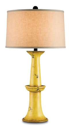 Currey and Company - Currey and Company Windowbox Table Lamp in Antique Yellow - Windowbox Table Lamp in Antique Yellow by Currey and Company.