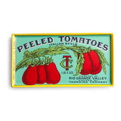 Rosanna - Voyage Peeled Tomatoes Tray By Rosanna - Explore the bygone days of international travel with our Voyage Peeled Tomatoes Tray showcasing ephemera found by Rosanna around the world.