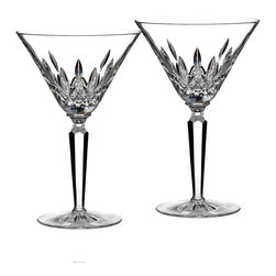 Waterford - Waterford Classic Lismore Cocktail Glass (Set of 2) - These classic cocktail glass are etched in the world famous diamond and wedge cuts of Waterford Classic. The crystal set includes two glasses with the signature weight and clarity of Waterford.