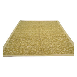 1800-Get-A-Rug - Modern Nepali Oriental Rug Sage Green Hand Knotted Rug Wool and Silk Sh12034 - About Modern & Contemporary
