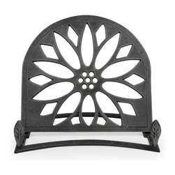 Sunflower Cast Iron Cookbook Holder - Antique Silver - This stylish and functional cast iron cookbook stand from Core Kitchen will make it convenient to hold your recipes while preparing all your favorite meals.
