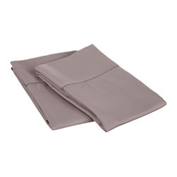 600 Thread Count King Pillowcase Set (Fagotting) Cotton Rich - Grey - Surround yourself in the classic elegance of Impressions Hem Stitch pillowcase set. This design features hem stitching which is a classic method used to put two pieces of fabric together using a an insertion stitch to give off the appearance of lace.