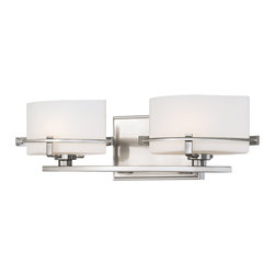 Quoizel - Quoizel NN8602BN Nolan Transitional Wall Sconce - Grace your home with this unusual architectural design.  The bands of metal that embrace the elliptical opal etched glass are simple but dramatic.  The opal glass is the very best diffuser of light and is complimented with a cool brushed nickel finish.  This design is both contemporary and transitional as it is soft, simple and unique.