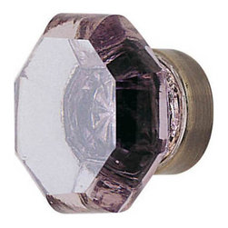 Violet Old Town Cabinet Knob - This beautiful knob made of lead crystal and is hand polished for maximum clarity and brilliance. Its gorgeous violet hue is magnified by the silver mirroring on the back side of the knob, replicating antique design.