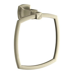 KOHLER - KOHLER K-16254-BN Margaux Towel Ring - KOHLER K-16254-BN Margaux Towel Ring in Brushed Nickel