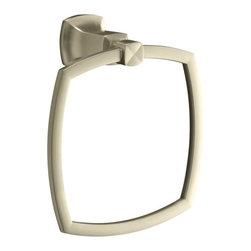 KOHLER - KOHLER K-16254-BN Margaux Towel Ring - KOHLER K-16254-BN Margaux Towel Ring in Brushed Nickel