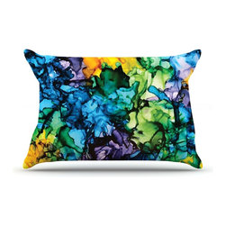 """Kess InHouse - Claire Day """"Gra Siorai"""" Purple Blue Pillow Case, King (36"""" x 20"""") - This pillowcase, is just as bunny soft as the Kess InHouse duvet. It's made of microfiber velvety fleece. This machine washable fleece pillow case is the perfect accent to any duvet. Be your Bed's Curator."""