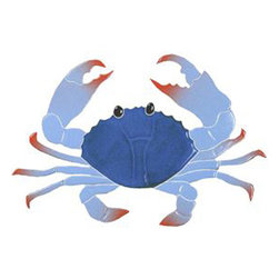 """Glass Tile Oasis - Crab Pool Accents Blue Pool Glossy Ceramic - Sheet size:  5"""" x 8""""        Tile thickness:  1/4""""        Sheet Mount:  Mesh Backed    Sold by the piece       -  We offer six lines of in-stock designs ready for immediate delivery including: The Aquatic Line  The Shadow Line  The Hang 10 Line  The Medallion Line  The Garden Line and The Peanuts® Line.All of the mosaics are frost proof  maintenance free and guaranteed for life.Our Aquatic Line includes: mosaic dolphins  mosaic turtles  mosaic tropical and sport fish  mosaic crabs and lobsters  mosaic mermaids  and other mosaic sea creatures such as starfish  octopus  sandollars  sailfish  marlin and sharks. For added three dimensional realism  the Shadow Line must be seen to be believed. Our Garden Line features mosaic geckos  mosaic hibiscus  mosaic palm tree  mosaic sun  mosaic parrot and many more. Put Snoopy and the gang in your pool or bathroom with the Peanuts® Line. Hang Ten line is a beach and surfing themed line featuring mosaic flip flops  mosaic bikini  mosaic board shorts  mosaic footprints and much more. Select the centerpiece of your new pool from the Medallion Line featuring classic design elements such as greek key and wave elements in elegant medallion mosaic designs."""
