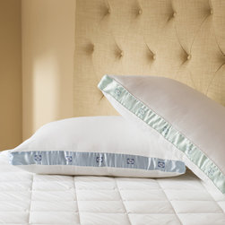 Sealy - Sealy Cotton Sateen 300 Thread Count Medium Density Pillows (Set of 2) - The Sealy medium density pillow set combines comfort with luxury. Constructed with 100-percent cotton  sateen and hypoallergenic polyester fill,these medium density pillows are perfect for back and side sleepers.