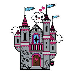 "Fairy Castle Wall Applique by Charuca - Add a bit of kawaii (Japanese for ""cuteness"") to the wall with this range of cute decals."
