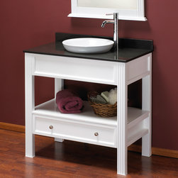 "36"" Milforde Console Vanity for Semi-Recessed Sink - This contemporary console vanity has an open shelf and lower drawer for ample storage. Give your bathroom an updated look and fresh appeal with the Milforde Vanity."