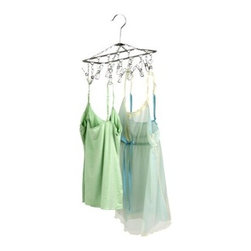 Hanging Drying Rack with 12 Clips - This hanging rack with clips is so perfect for your delicates. Small-space drying capability is huge with this little hanger.