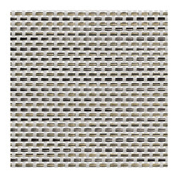 Chilewich - Chilewich Rectangle Basket weave Placemat - Aluminum, Set of Four - The fabric of friend and family ties are frequently woven over meals shared together. And to keep the process as simple and welcoming as possible, you've chosen these classic, vinyl basket weave placemats — so you can erase the spills and spots of exuberant dining with a swipe of a sponge.