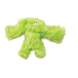 West Paw Design - Salsa dog toy in Lime Green color option - Don't let the furry fabric fool you. You and your dog can really play r-r-r-ruff with this rugged squeaky toy. It's made in the USA, machine washable and meant to be tossed, tugged, trounced and throttled.