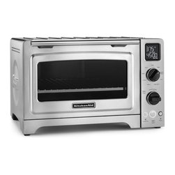 KitchenAid - KitchenAid KCO273SS Stainless Steel 12-inch Digital Convection Countertop Oven - Enjoy full-size oven performance on the kitchen counter with the KitchenAid? 12-inch Convection Countertop Oven. Nine memory settings provide exceptional cooking results including an asado roast and an option specifically for pizza.