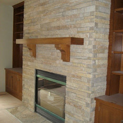 Stacked Stone Fireplace - This fireplace features The Quarry Mill's Primavera natural stone veneer.