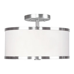 Livex Lighting - Livex Lighting-6366-91-Park Ridge - Two Light Semi-Flush Mount - *Canopy Included: Yes