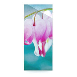 """Kess InHouse - Iris Lehnhardt """"Dicentra"""" Teal Pink Metal Luxe Panel (9"""" x 21"""") - Our luxe KESS InHouse art panels are the perfect addition to your super fab living room, dining room, bedroom or bathroom. Heck, we have customers that have them in their sunrooms. These items are the art equivalent to flat screens. They offer a bright splash of color in a sleek and elegant way. They are available in square and rectangle sizes. Comes with a shadow mount for an even sleeker finish. By infusing the dyes of the artwork directly onto specially coated metal panels, the artwork is extremely durable and will showcase the exceptional detail. Use them together to make large art installations or showcase them individually. Our KESS InHouse Art Panels will jump off your walls. We can't wait to see what our interior design savvy clients will come up with next."""