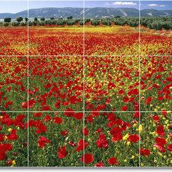 Picture-Tiles, LLC - Flower Photo Shower Tile Mural F117 - * MURAL SIZE: 18x24 inch tile mural using (12) 6x6 ceramic tiles-satin finish.
