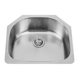 VIGO Industries - VIGO 24-inch Undermount 18 Gauge Single Bowl Kitchen, Sink - The VIGO undermount kitchen sink complements any decor and is highly functional. Every design detail is featured in this sink to meet your needs.