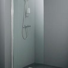 Modern Showerheads And Body Sprays Technik Walk-in modular shower panel 800mm