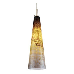 Juno Lighting Group - Art Glass Low Voltage Mini-Pendant - P95MF-BRZ-TOR - Includes 6-1/2-feet of field-cuttable suspension cable and a 4-1/2-inch round flush canopy with an integrated 12 volt electronic transformer. Takes (1) 50-watt halogen T4 bulb(s). Bulb(s) sold separately. Dry location rated.
