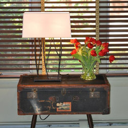 Wit's End- Gloucester(Magnolia) - Custom vintage suitcase table