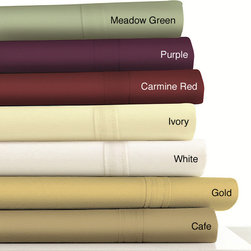 Tribeca Living - Egyptian Cotton 500 Thread Count Extra Deep Pocket Sheet Set - Make your bed more comfortable with these extra-deep-pocket sateen sheets. Made of 100 percent 500-thread-count Egyptian cotton,these sheets have a soft,smooth feel and are available in seven different colors. Use them on a king- or queen-size bed.