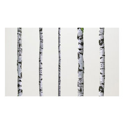 Walls Need Love - Birch Tree, Adhesive Wall Decal - The tree wall decals are 9ft tall to accommodate tall ceilings or you can easily trim or slant them in standard height ceilings.