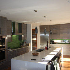 Contemporary Kitchen Cabinetry by Arts Custom Woodcrafting Inc.