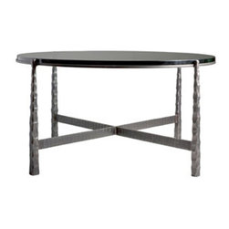 """Nash 36"""" Round Cocktail Table by Charleston Forge - Dimensions:"""