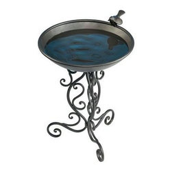 Gardman USA - Ornate Metal Bird Bath - Ornate Metal Bird Bath