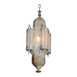 Morrocan Style Copper Lantern - What better way to embrace the whole Moroccan trend? This light is a scene stealer!