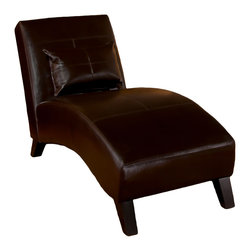 Great Deal Furniture - Brisbane Curved Lounge Chair In Brown Leather - Recline on your very own Brisbane Curved Lounge Chair and experience the most comfortable piece of furniture a room could ever have. Whether you sit straight up, lay down, or anything in between, you'll be gently caressed by the soft leather below. Featuring a rich chocolate brown, your Brisbane Curved Lounge Chair is sure to fit in any room.
