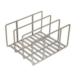 Seville - Seville Classic Iron Counter Top Kitchen Organizer - Make smart use of counter space with this iron kitchen organizer. This cleverly designed piece enables you to store your lids or other items in a neat and tidy fashion, so you're not wasting time hunting them down later. It blends right into any decor.
